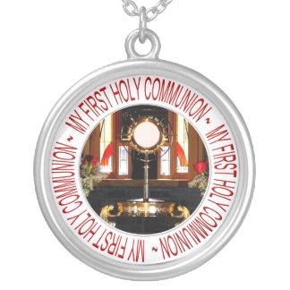 Meu primeiro comunhão santamente bijuterias personalizadas