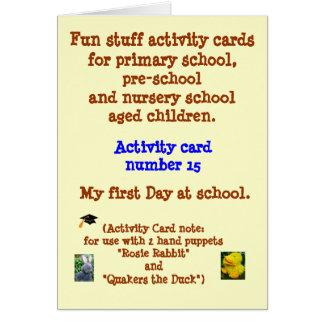 Meu primeiro dia na escola - cartão de nota da