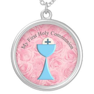 Meu primeiro pendente do dia do comunhão santament bijuteria personalizada