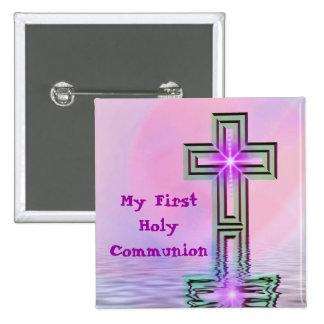Meu primeiro Pin do botão do comunhão santamente Boton