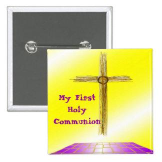 Meu primeiro Pin do botão do comunhão santamente Pins