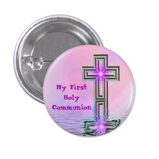 Meu primeiro Pin do botão do comunhão santamente Bóton Redondo 2.54cm