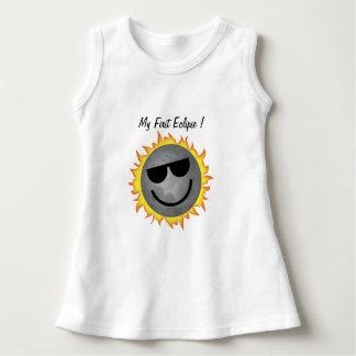 Meu primeiro vestido do bebê do eclipse