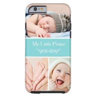 Meu príncipe pequeno Bebê Miúdo Foto Colagem Capa Tough Para iPhone 6