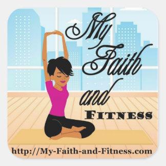Meu ~ quadrado 20 da etiqueta da fé e da malhação adesivo quadrado