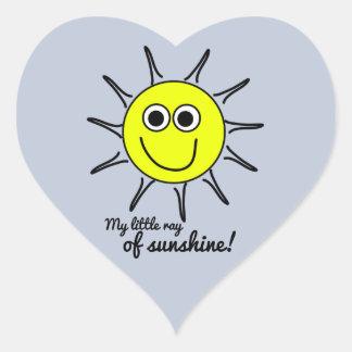 Meu raio de luz do sol pequeno com sorriso e o sol adesivo coração