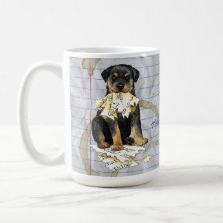 Meu Rottweiler comeu meu plano de aula Caneca De Café