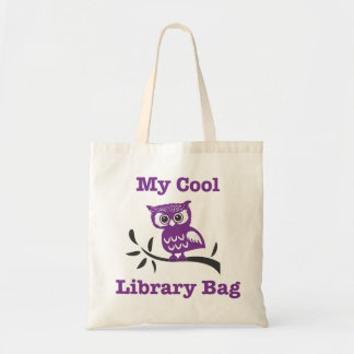Meu saco legal da coruja da biblioteca sacola tote budget