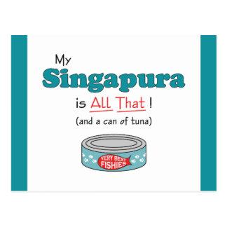Meu Singapura é todo o isso! Gatinho engraçado Cartão Postal