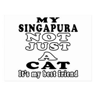 Meu Singapura não apenas um gato é meu melhor amig Cartoes Postais