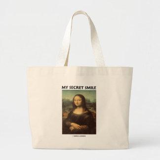 Meu sorriso secreto (a Mona Lisa de da Vinci) Sacola Tote Jumbo