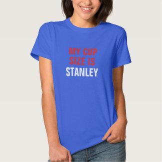 Meu tamanho do copo é vermelho azul e branco de tshirts