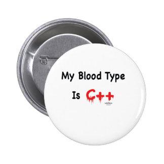 Meu tipo de sangue é c++ bóton redondo 5.08cm