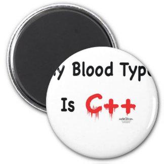 Meu tipo de sangue é c++ ímã redondo 5.08cm