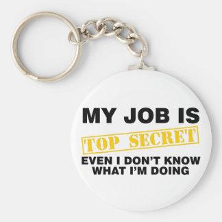 Meu trabalho é extremamente secreto chaveiro