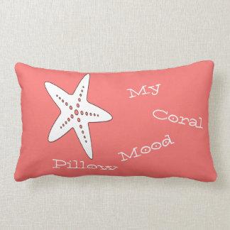 Meu travesseiro decorativo coral da estrela do mar almofada lombar