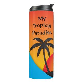 Meu Tumbler tropical do paraíso