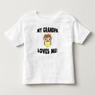 Meu vovô ama-me coruja camiseta