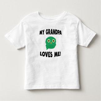 Meu vovô ama-me coruja verde t-shirts