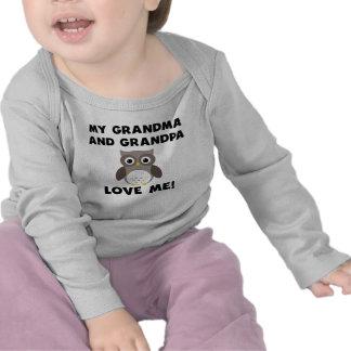 Meus avó e vovô amam-me coruja tshirt