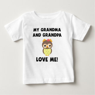 Meus avó e vovô amam-me coruja t-shirts