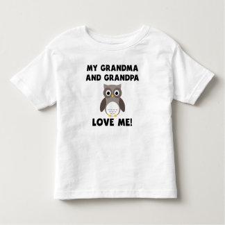 Meus avó e vovô amam-me coruja tshirts