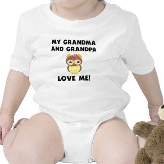 Meus avó e vovô amam-me coruja babador