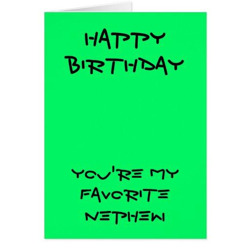 Meus cartões de aniversário favoritos do sobrinho