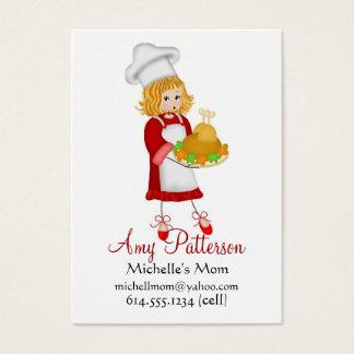 Meus cartões pequenos das mamães do cozinheiro do