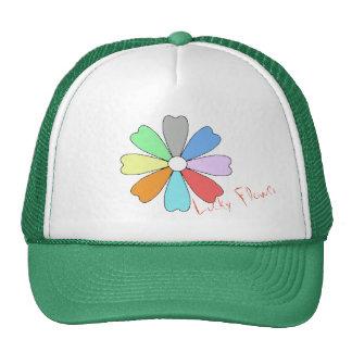 Meus chapéu/boné afortunados da flor boné