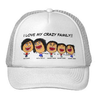 Meus desenhos animados loucos da família boné