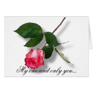 Meus e somente você… cartão comemorativo