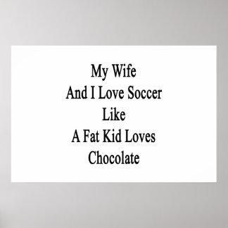 Meus esposa e eu amamos o futebol como amores Cho Pôster