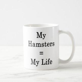 Meus iguais dos hamster minha vida caneca de café