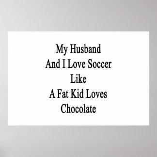 Meus marido e eu amamos o futebol como amores de pôster