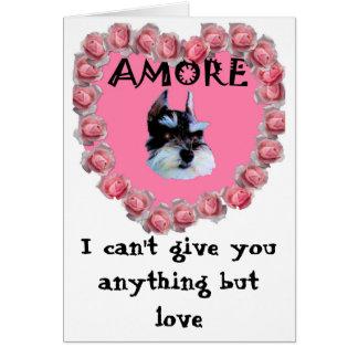 Meus namorados Amore, eu não posso dá-lo qualquer Cartão