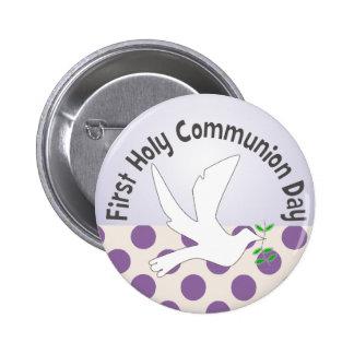 Meus primeiros botões do comunhão santamente pins
