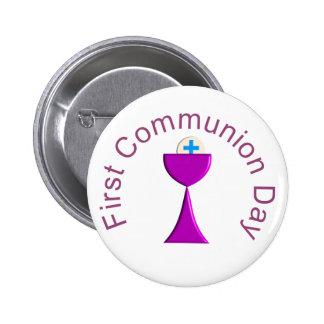 Meus primeiros botões do comunhão santamente bóton redondo 5.08cm
