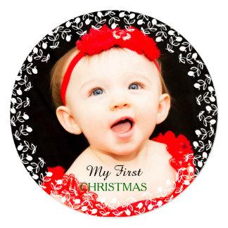 Meus primeiros cartões de foto de Natal Convite Quadrado 13.35 X 13.35cm