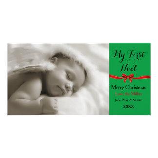 Meus primeiros cartões de foto de Natal de Noel Cartão Com Foto