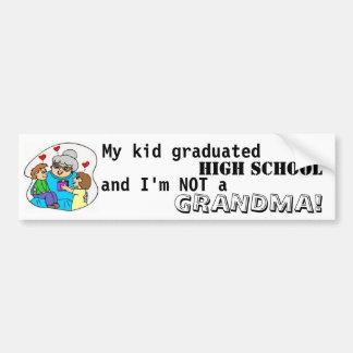 Meus segundo grau e eu graduados miúdo não somos u adesivo para carro