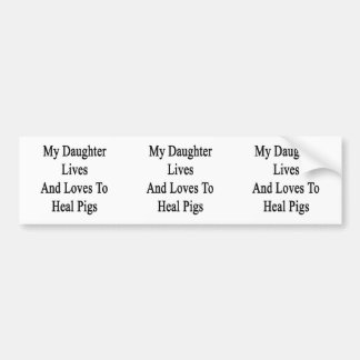 Meus vidas e amores da filha para curar porcos adesivos
