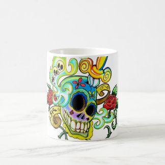 Mexican Skull Caneca De Café