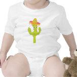 Mexicano bonito do cacto macacãozinho para bebê