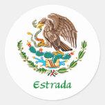 Mexicano Eagle de Estrada Adesivo Redondo