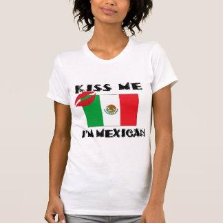 Mexicanos engraçados beijam-me que eu sou t-shirt