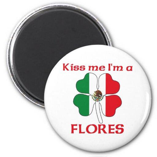 Mexicanos personalizados beijam-me que eu sou Flor Imãs De Refrigerador
