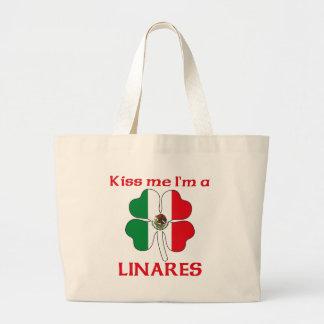 Mexicanos personalizados beijam-me que eu sou Lina Sacola Tote Jumbo