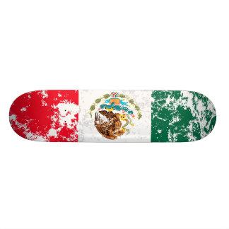 México afligiu a bandeira shape de skate 18,1cm