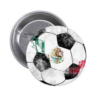 México afligiu o futebol bóton redondo 5.08cm
